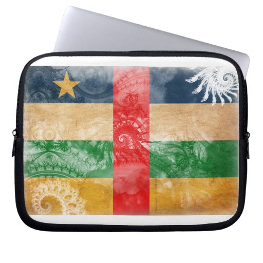 Central African Republic Flag Computer Sleeve