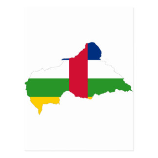 Central African Republic Flag map CF Postcard