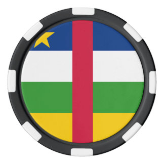 Central African Republic Flag Poker Chips