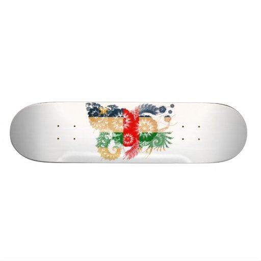 Central African Republic Flag Custom Skate Board