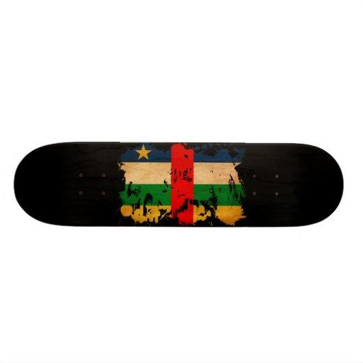 Central African Republic Flag Skate Board