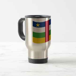 Central-African Republic Flag Travel Mug