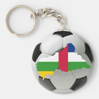 Central African Republic football soccer Basic Round Button Key Ring