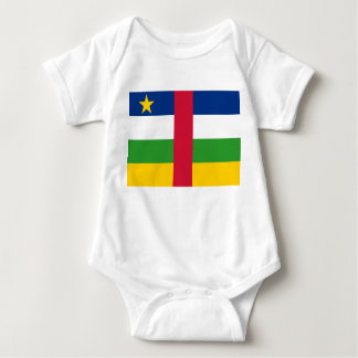 Central African Republic National World Flag Baby Bodysuit
