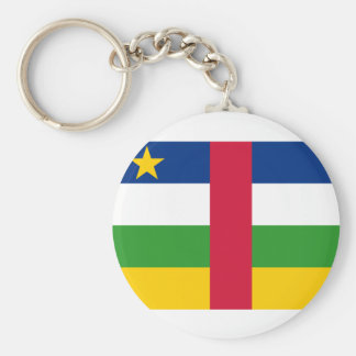 Central African Republic National World Flag Key Ring