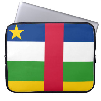 Central African Republic National World Flag Laptop Sleeve