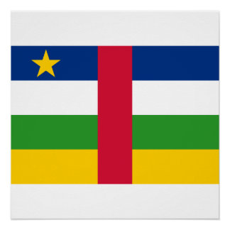 Central African Republic National World Flag Poster
