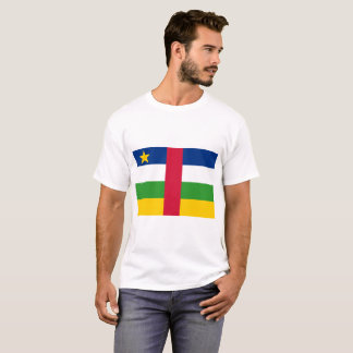 Central African Republic National World Flag T-Shirt