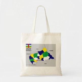 central african republic political map flag canvas bag