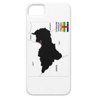 central african republic political map flag iPhone 5 cover