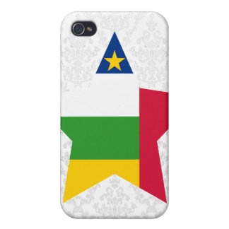 Central+African+Republic Star iPhone 4 Cases
