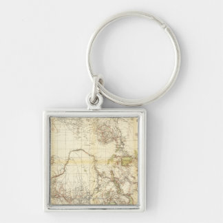 Central AfricaPanoramic MapCentral Africa Keychain