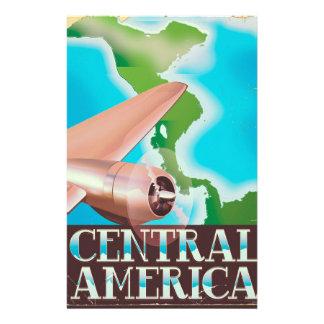 Central America vintage flight poster Stationery