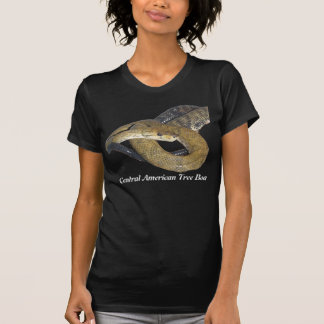 Central American Tree Boa Ladies Twofer Sheer Tee Shirts