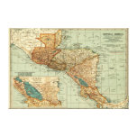 Central AmericaPanoramic MapCentral America 2 Gallery Wrapped Canvas