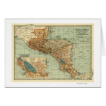 Central AmericaPanoramic MapCentral America 2 Greeting Card