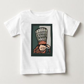 Central Asian Woman Thinking (in hat) Baby T-Shirt