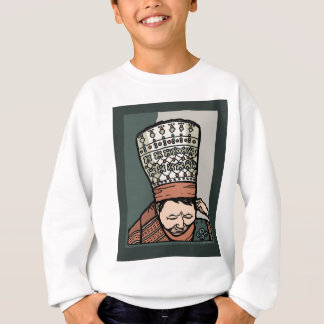 Central Asian Woman Thinking (in hat) Sweatshirt