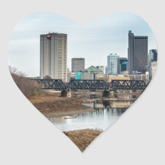 Central Business District Columbus, Ohio Heart Sticker