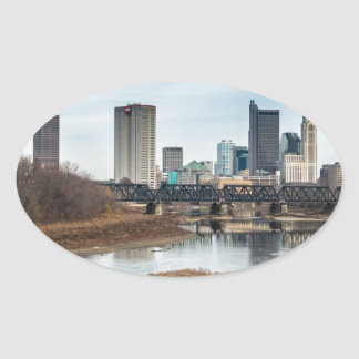 Central Business District Columbus, Ohio Oval Sticker