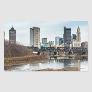 Central Business District Columbus, Ohio Rectangular Sticker