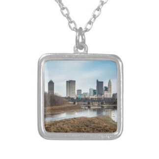 Central Business District Columbus, Ohio Silver Plated Necklace