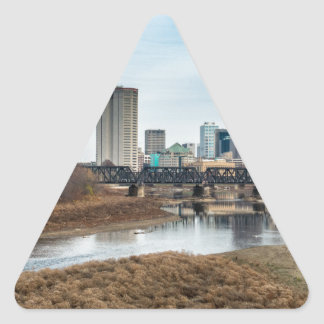 Central Business District Columbus, Ohio Triangle Sticker