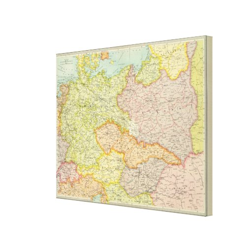Central European states political Gallery Wrapped Canvas