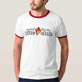Central Florida Kite Club Ringer TShirt (Grey/Red)