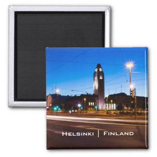 Central Helsinki during Blue Hour Magnet