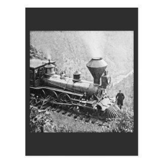 Central Pacific Railroad Cape Horn CA Locomotive Postcard
