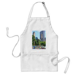 Central Park Amusement Park, Skyscraper backdrop Adult Apron