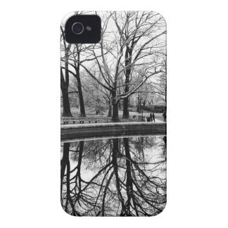 Central Park Black and White Landscape Photo iPhone4 Case