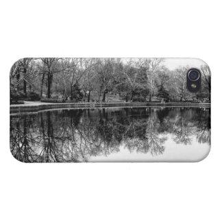 Central Park Black and White Landscape Photo iPhone 4 Cases