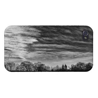Central Park Black White Landscape Photo iPhone 4 Case