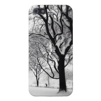 Central Park Blanketed In White iPhone 5 Case