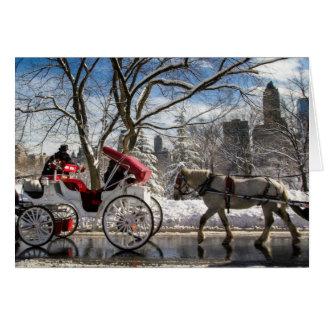Central Park Carriage Horses Card