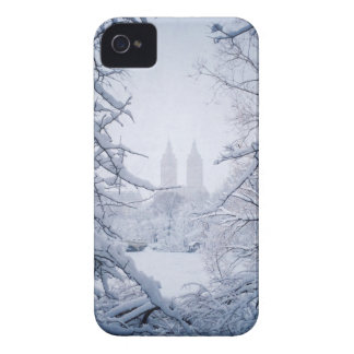 Central Park Framed In Snow and Ice iPhone 4 Case-Mate Case