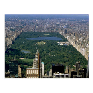 Central Park from the south, New York City, USA Postcard