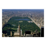 Central Park from the south, New York City, USA Poster
