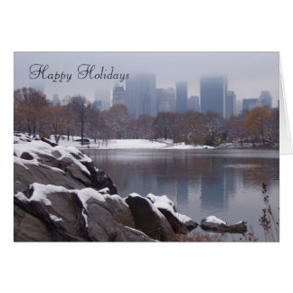 Central Park in Snow Greeting Card - Customized