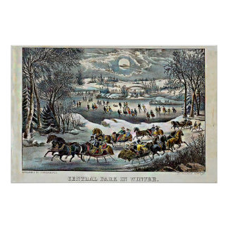 Central Park in Winter  Currier & Ives Poster