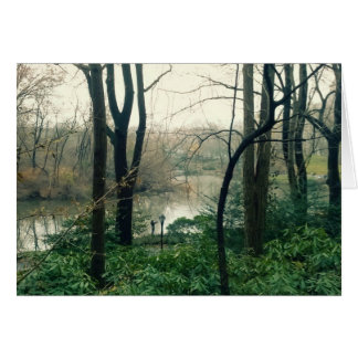 Central Park lake greeting card