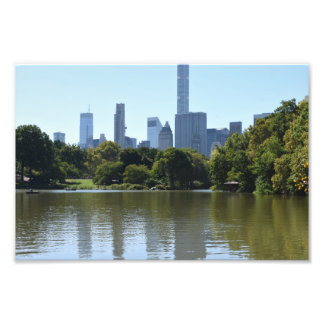 Central Park Lake New York City NYC Architecture Photo Print