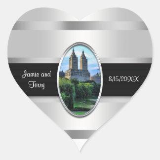 Central Park Lake, San Remo NYC Invitation Suite Heart Sticker