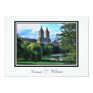 Central Park Lake, San Remo NYC Wedding Invitation
