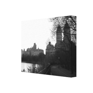 Central Park New York City NYC Black & White Canvas Print