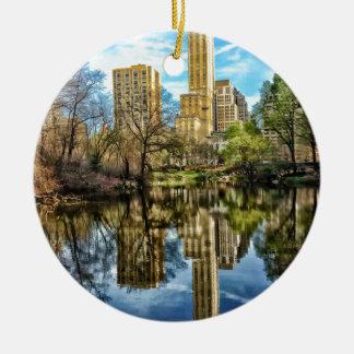 Central Park New York City NYC Round Ceramic Decoration