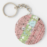 Central Park New York City Vintage Map Key Chains