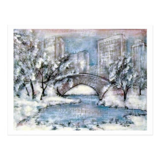 Central Park New York Winter Postcard